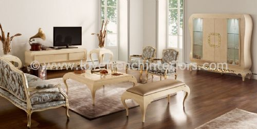 New York Cream and Gold Living Room